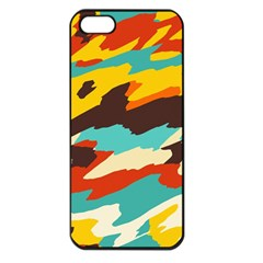 Wavy Retro  Texture           			apple Iphone 5 Seamless Case (black) by LalyLauraFLM