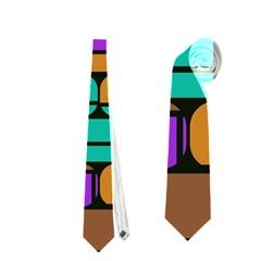 Round Corner Shapes In Retro Colors            Necktie