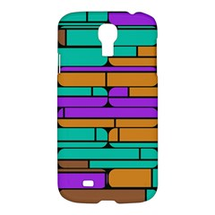 Round Corner Shapes In Retro Colors            samsung Galaxy S4 I9500/i9505 Hardshell Case by LalyLauraFLM