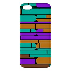 Round Corner Shapes In Retro Colors            iphone 5s Premium Hardshell Case by LalyLauraFLM