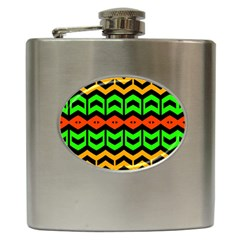 Rhombus And Other Shapes Pattern             			hip Flask (6 Oz) by LalyLauraFLM