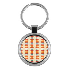 Triangles Tribal Pattern              			key Chain (round) by LalyLauraFLM