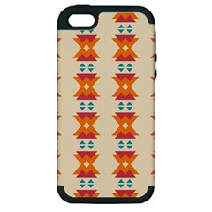 Triangles Tribal Pattern              			apple Iphone 5 Hardshell Case (pc+silicone) by LalyLauraFLM