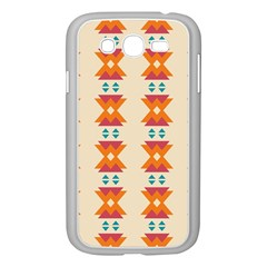 Triangles Tribal Pattern              			samsung Galaxy Grand Duos I9082 Case (white) by LalyLauraFLM