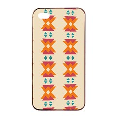 Triangles Tribal Pattern              apple Iphone 4/4s Seamless Case (black) by LalyLauraFLM