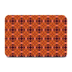 Peach Purple Abstract Moroccan Lattice Quilt Plate Mats by DianeClancy