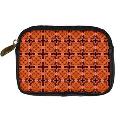 Peach Purple Abstract Moroccan Lattice Quilt Digital Camera Cases by DianeClancy