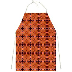 Peach Purple Abstract Moroccan Lattice Quilt Full Print Aprons by DianeClancy