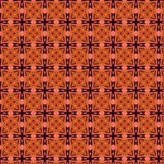 Peach Purple Abstract Moroccan Lattice Quilt Magic Photo Cubes by DianeClancy