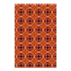Peach Purple Abstract Moroccan Lattice Quilt Shower Curtain 48  X 72  (small)  by DianeClancy