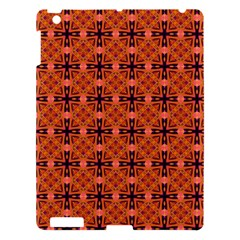 Peach Purple Abstract Moroccan Lattice Quilt Apple Ipad 3/4 Hardshell Case by DianeClancy