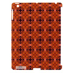 Peach Purple Abstract Moroccan Lattice Quilt Apple Ipad 3/4 Hardshell Case (compatible With Smart Cover) by DianeClancy