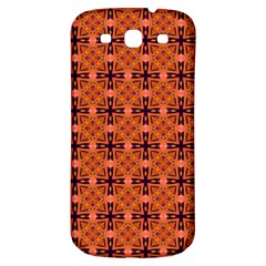Peach Purple Abstract Moroccan Lattice Quilt Samsung Galaxy S3 S Iii Classic Hardshell Back Case by DianeClancy