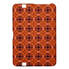 Peach Purple Abstract Moroccan Lattice Quilt Kindle Fire Hd 8 9  by DianeClancy