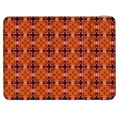 Peach Purple Abstract Moroccan Lattice Quilt Samsung Galaxy Tab 7  P1000 Flip Case by DianeClancy