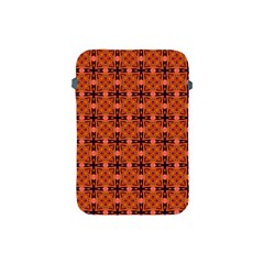 Peach Purple Abstract Moroccan Lattice Quilt Apple Ipad Mini Protective Soft Cases by DianeClancy
