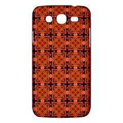 Peach Purple Abstract Moroccan Lattice Quilt Samsung Galaxy Mega 5 8 I9152 Hardshell Case  by DianeClancy