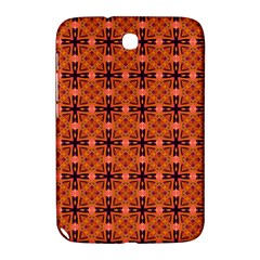 Peach Purple Abstract Moroccan Lattice Quilt Samsung Galaxy Note 8 0 N5100 Hardshell Case  by DianeClancy