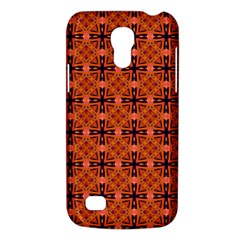 Peach Purple Abstract Moroccan Lattice Quilt Galaxy S4 Mini by DianeClancy