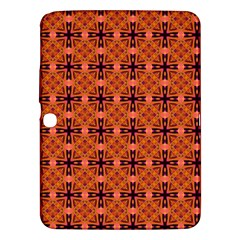 Peach Purple Abstract Moroccan Lattice Quilt Samsung Galaxy Tab 3 (10 1 ) P5200 Hardshell Case  by DianeClancy