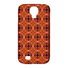 Peach Purple Abstract Moroccan Lattice Quilt Samsung Galaxy S4 Classic Hardshell Case (pc+silicone) by DianeClancy