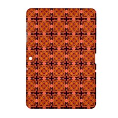 Peach Purple Abstract Moroccan Lattice Quilt Samsung Galaxy Tab 2 (10 1 ) P5100 Hardshell Case  by DianeClancy