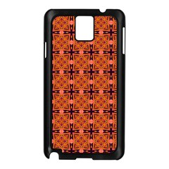 Peach Purple Abstract Moroccan Lattice Quilt Samsung Galaxy Note 3 N9005 Case (black) by DianeClancy