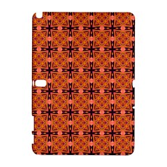 Peach Purple Abstract Moroccan Lattice Quilt Samsung Galaxy Note 10 1 (p600) Hardshell Case by DianeClancy