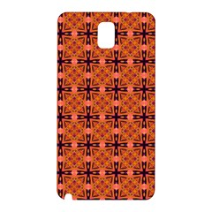 Peach Purple Abstract Moroccan Lattice Quilt Samsung Galaxy Note 3 N9005 Hardshell Back Case by DianeClancy