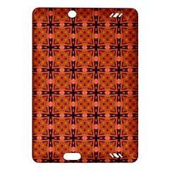 Peach Purple Abstract Moroccan Lattice Quilt Amazon Kindle Fire Hd (2013) Hardshell Case by DianeClancy