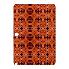 Peach Purple Abstract Moroccan Lattice Quilt Samsung Galaxy Tab Pro 12 2 Hardshell Case by DianeClancy