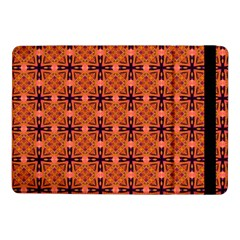 Peach Purple Abstract Moroccan Lattice Quilt Samsung Galaxy Tab Pro 10 1  Flip Case by DianeClancy