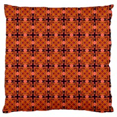 Peach Purple Abstract Moroccan Lattice Quilt Standard Flano Cushion Case (one Side) by DianeClancy
