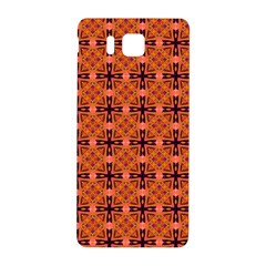 Peach Purple Abstract Moroccan Lattice Quilt Samsung Galaxy Alpha Hardshell Back Case by DianeClancy