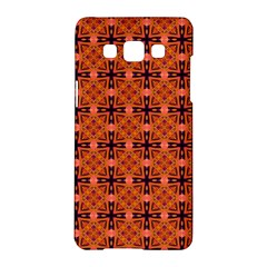 Peach Purple Abstract Moroccan Lattice Quilt Samsung Galaxy A5 Hardshell Case  by DianeClancy