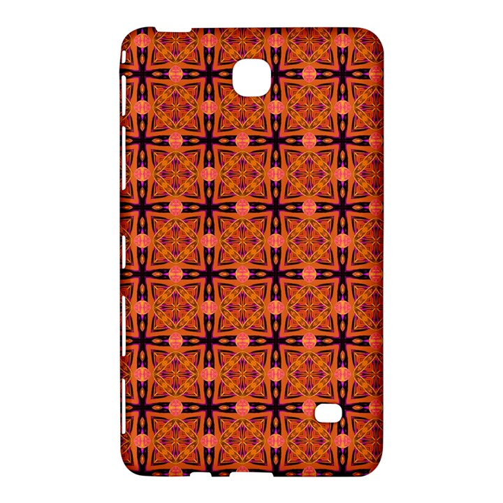 Peach Purple Abstract Moroccan Lattice Quilt Samsung Galaxy Tab 4 (7 ) Hardshell Case