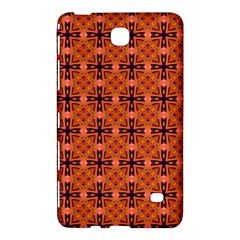 Peach Purple Abstract Moroccan Lattice Quilt Samsung Galaxy Tab 4 (8 ) Hardshell Case  by DianeClancy