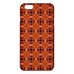 Peach Purple Abstract Moroccan Lattice Quilt Iphone 6 Plus/6s Plus Tpu Case by DianeClancy