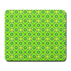 Vibrant Abstract Tropical Lime Foliage Lattice Large Mousepads by DianeClancy