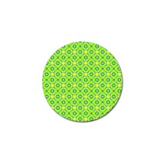 Vibrant Abstract Tropical Lime Foliage Lattice Golf Ball Marker (10 Pack) by DianeClancy