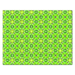 Vibrant Abstract Tropical Lime Foliage Lattice Rectangular Jigsaw Puzzl by DianeClancy