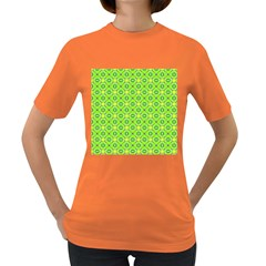 Vibrant Abstract Tropical Lime Foliage Lattice Women s Dark T Shirt by DianeClancy
