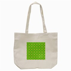 Vibrant Abstract Tropical Lime Foliage Lattice Tote Bag (cream) by DianeClancy