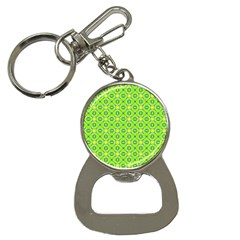 Vibrant Abstract Tropical Lime Foliage Lattice Bottle Opener Key Chains by DianeClancy