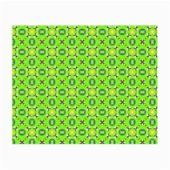 Vibrant Abstract Tropical Lime Foliage Lattice Small Glasses Cloth (2 Side) by DianeClancy