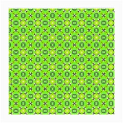 Vibrant Abstract Tropical Lime Foliage Lattice Medium Glasses Cloth by DianeClancy