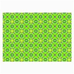 Vibrant Abstract Tropical Lime Foliage Lattice Large Glasses Cloth (2 Side) by DianeClancy