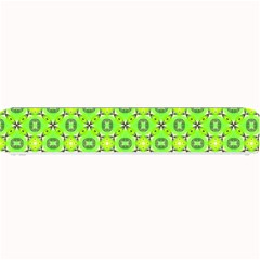 Vibrant Abstract Tropical Lime Foliage Lattice Small Bar Mats by DianeClancy