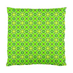 Vibrant Abstract Tropical Lime Foliage Lattice Standard Cushion Case (one Side) by DianeClancy
