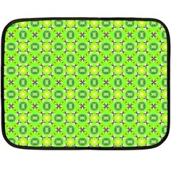 Vibrant Abstract Tropical Lime Foliage Lattice Fleece Blanket (mini) by DianeClancy